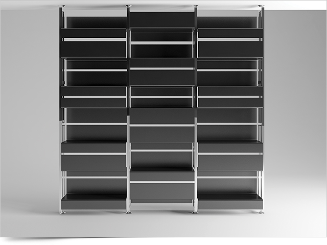 Carbon Fiber Bookcase De_Fold 1 by Mast Elements