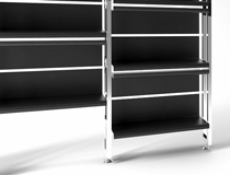Carbon Fiber Bookcase De_Fold 2 by Mast Elements